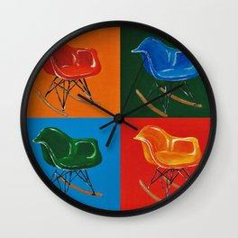 Eames Rocker  Wall Clock