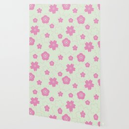Sakura blossom - spring green Wallpaper
