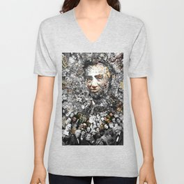 """Rendering Myself Worthy"" Abraham Abe Lincoln. Unisex V-Neck"