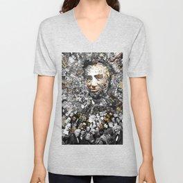 """""""Rendering Myself Worthy"""" Abraham Abe Lincoln. Unisex V-Neck"""