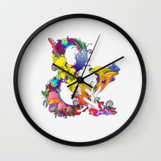 Mushroom & 2 Wall Clock