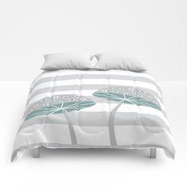 Romantic mushrooms Comforters