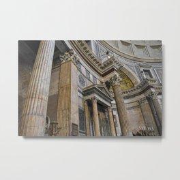 Inside the Pantheon Metal Print