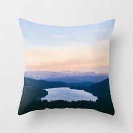 Donner Lake // California Throw Pillow