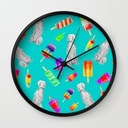 WEIMS AND POPSICLES Wall Clock