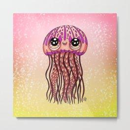 Happy Jellyfish  Metal Print