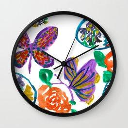 Floral medley Wall Clock