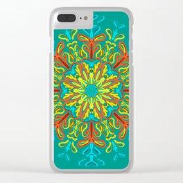 Gracias a la Vida (Turquesa) Clear iPhone Case