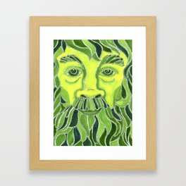 Green Man Framed Art Print