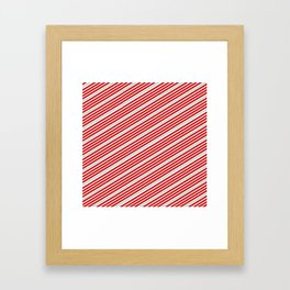 Carnival Stripes Framed Art Print