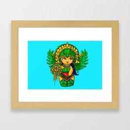 Warrior Princess Kokeshi Framed Art Print