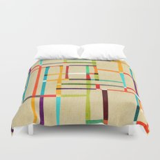 The map (after Mondrian) Duvet Cover
