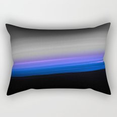 Blue Purple Grey Black Ombre Rectangular Pillow