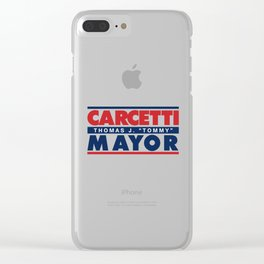 CARCETTI FOR MAYOR Clear iPhone Case