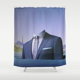 atmosphere 61 · Der Mann auf der Fahrt ins blaue Shower Curtain