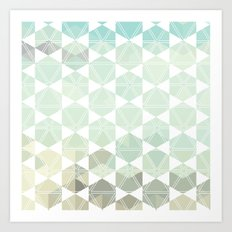 Geometric Sand & Sea Art Print