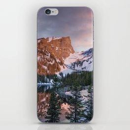 Moody Daybreak at Dream Lake iPhone Skin