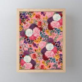 Floral Pink Pattern Framed Mini Art Print