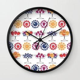retro food fruit salad dessert parfait glass Wall Clock