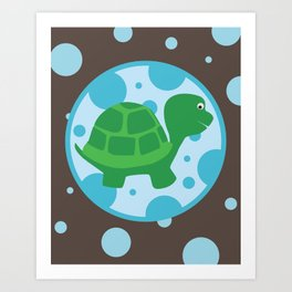 SERIES: Pond Critters - turtle Art Print