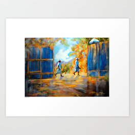 The Blue Gates /Haiti Art Print