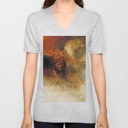 Death on a pale horse (1825) by J.M.W. Turner Unisex V-Neck