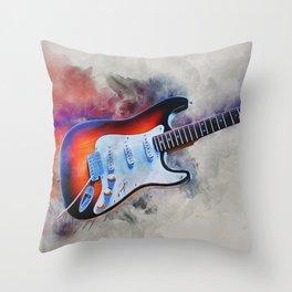 Electric Gitar Throw Pillow