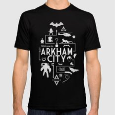 Welcome To Arkham City Black SMALL Mens Fitted Tee