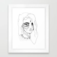 Teary Framed Art Print