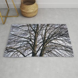 Stained Glass Tree Rug