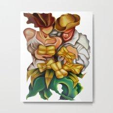 Romance entre tamales. Metal Print