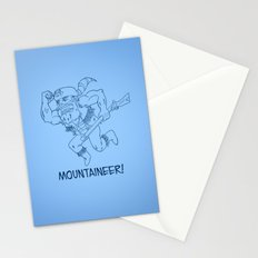 Mountaineer! (blue) Stationery Cards