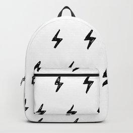 Lightning Bolt Pattern Backpack