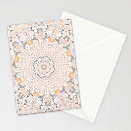 BOHO SUMMER JOURNEY MANDALA - SUNSHINE YELLOW GREY Stationery Cards