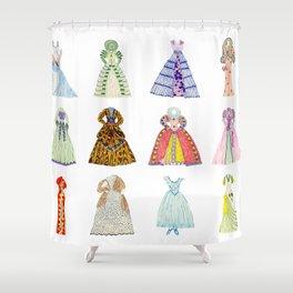 Doll Dresses Shower Curtain