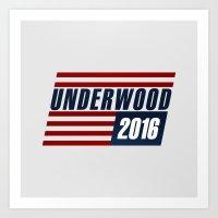 Underwood 2016 in Distress Art Print