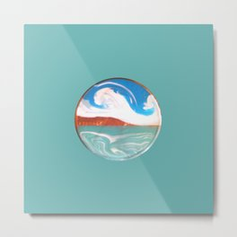 Painting of the Ocean on a Penny Print Metal Print