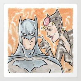 The Bat and The Cat Art Print