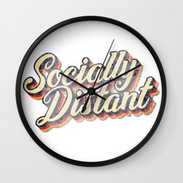 Socially Distant / Social Distancing Funny Introvert Wall Clock