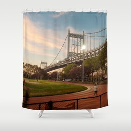 Robert F kennedy Bridge in Astoria Shower Curtain