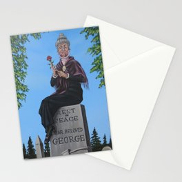 Haunted Manion Portrait: Widow Stationery Cards