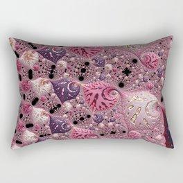 Pink Fractal Rectangular Pillow