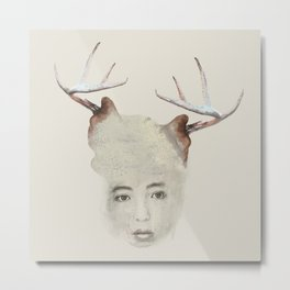 A woman with horns Metal Print