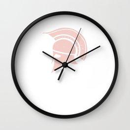 Roman Galea or Helmet in Japanese Peach Wall Clock