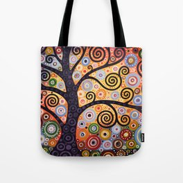 Abstract Landscape Original Art ...WESTERN SUN, by Amy Giacomelli Tote Bag