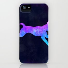 DOG IN SPACE // Animal Graphic Art // Watercolor Canvas Painting // Modern Minimal Cute iPhone Case