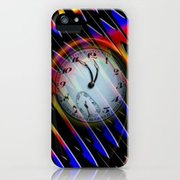 Abstract - Perfection- Time is running iPhone Case