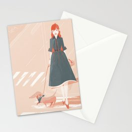 Girl Walking Stationery Cards