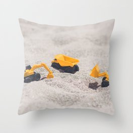 Construction Site Throw Pillow