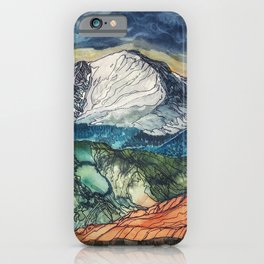 Pikes Peak Print iPhone Case